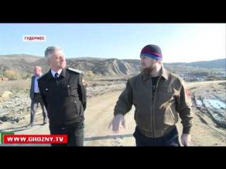 Руководитель ФССП Артур Парфенчиков и Глава ЧР посетил строящийся учебный центр спецназа в Гудермесе