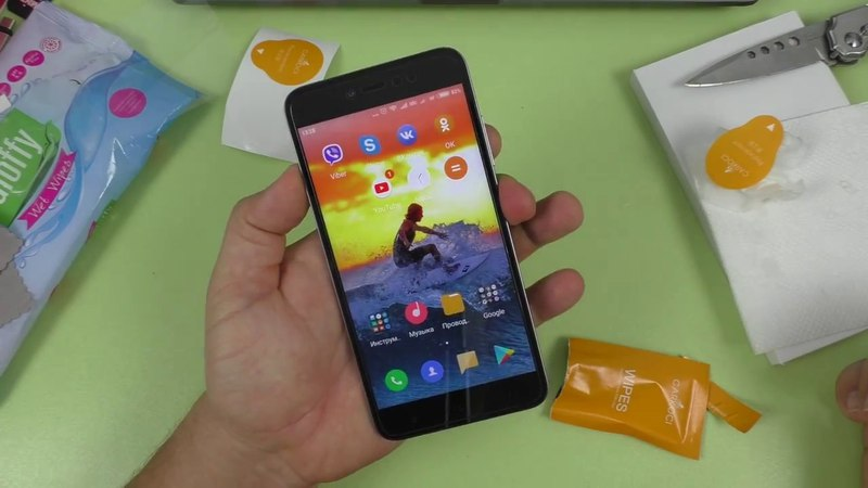 Клею защитное стекло Carkoci KUPISHIK на Xiaomi Redmi NOTE 5A ► неплохо