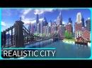 Карта реалистичный Город Майнкрафт
