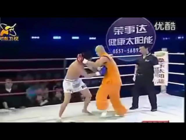 Отмороженный Шаолинь Монах против Бойцов MMA! Жесть,красава.Бои без правил ММА восьмиугольник.