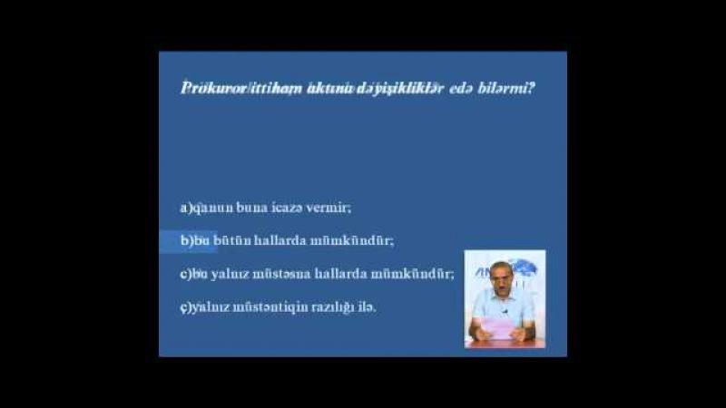ABA CEELI Vəkilliyə namizədlər üçün hazırlıq kursları Məşğələ 8 1