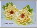 Цветы Канзаши 🌸Мастер класс 🌸Flowers Kanzashi masterclass Резинки для волос своими руками.
