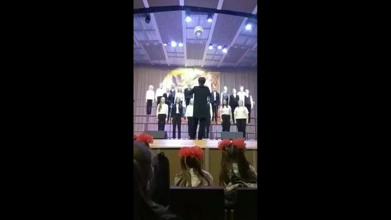 Отчётный концерт Климовскской ДМШ. Старший хор под управлением Ноздреватых Елены Сергеевны.