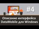 Видео 4 Описание интерфейса DataMobile для Windows Работа с DataMobile