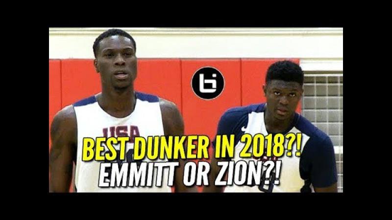 Zion Williamson Emmitt Williams 2018's Best Dunkers ON SAME TEAM USA Basketball Highlights