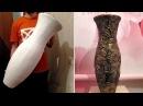Напольная ваза своими руками из картона и шпаклевки