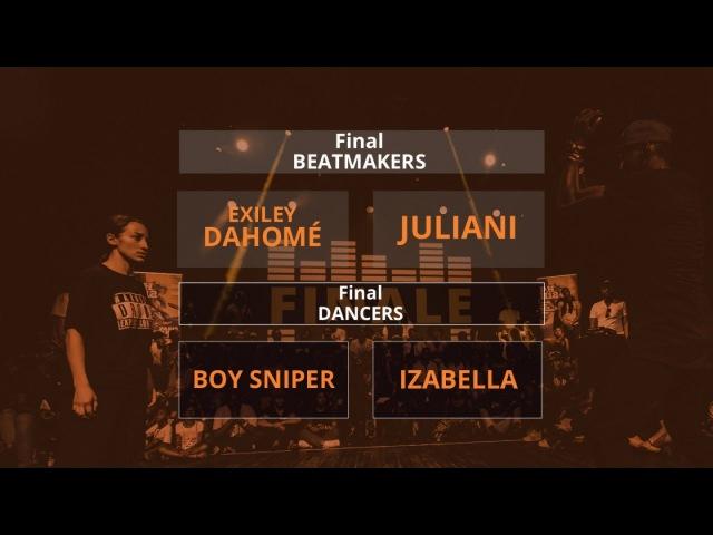 Beatdance Contest 2017 - final Battle - (Boy Sniper vs Izabella - Exiley Dahomé vs Juliani)
