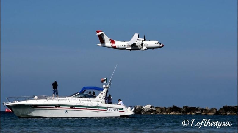 HD ATR 42 Guardia Costiera low pass at Igea Marina Bellaria Air Show 2018