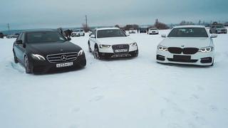 Оффроад битва Audi, BMW и Mercedes