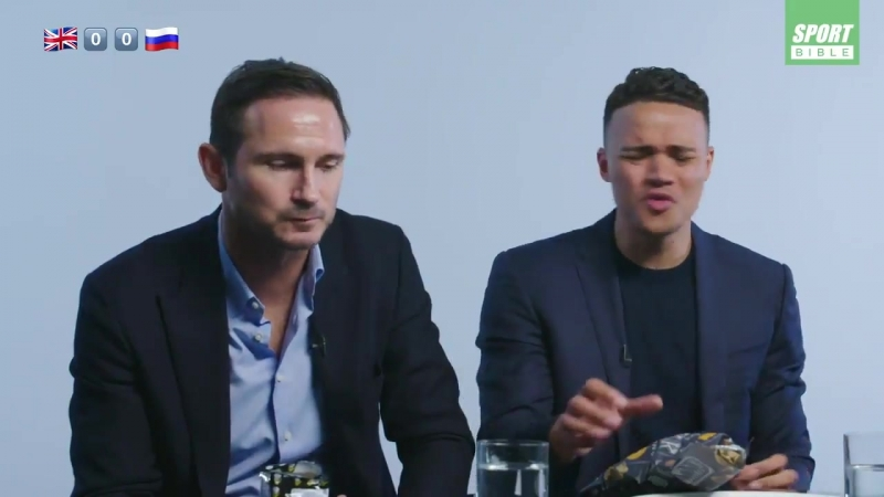 Frank Lampard and Jermiane jenas eating Russian food is BBCSport
