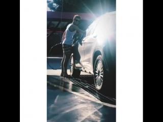 Lavado el auto