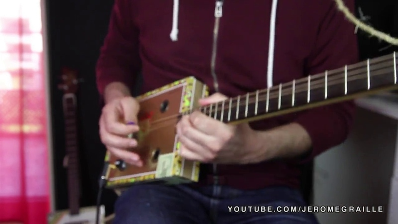 B B King The Thrill Is Gone Cover Cigar Box Guitar by Jerome Graille