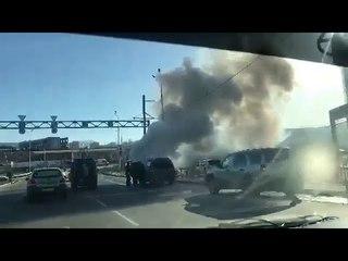 Возгорание авто в Иркутске