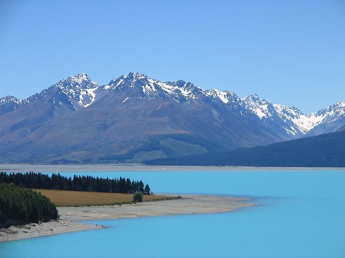 Озеро Пукаки в Новой Зеландии, изображение №2