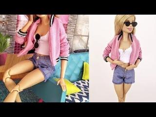 Como Fazer Shorts Jeans para Barbie | DIY | Cherry Miniaturas