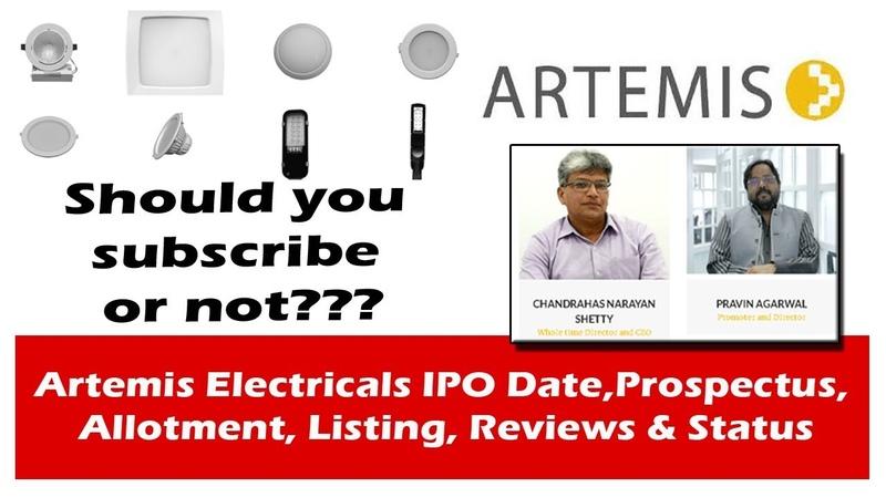 Artemis Electricals IPO Date Prospectus Allotment Listing Reviews Status