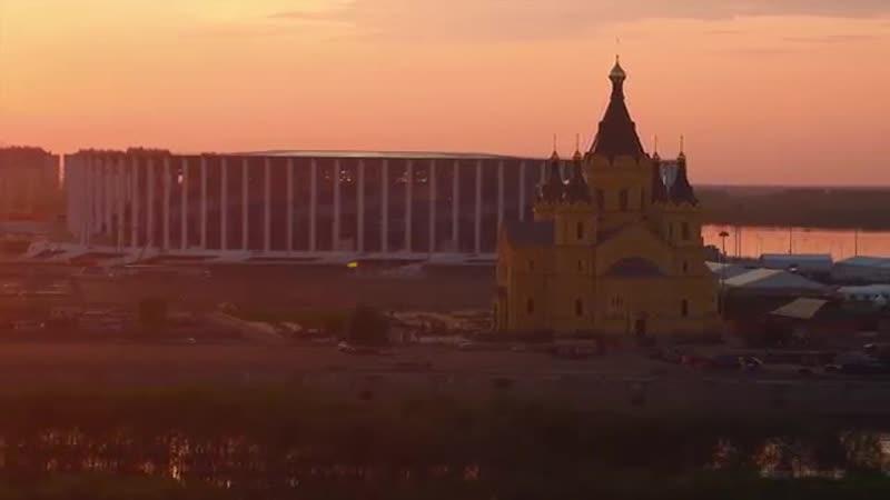 Нижний Новгород Аэросъемка Nizhny Novgorod Aerial Drone Footage