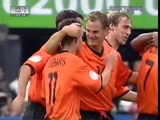 Марк Овермарс - гол в ворота Югославии (Евро-2000)