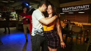 AnyDay Party. Ivan Bubnov and Julia Ivanova. Zouk improvisation.