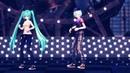 классный танец вокалоидов ( Мику Хатсуне и Кайто)