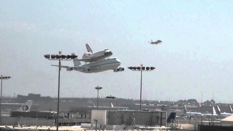 Shuttle Endeavour Low Pass