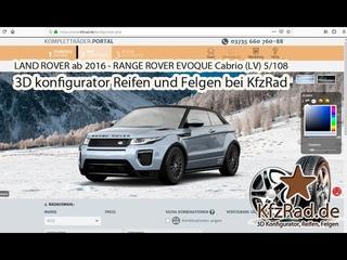 LAND ROVER ab 2016 - RANGE ROVER EVOQUE Cabrio (LV) 5/10  Reifen und Felgen bei