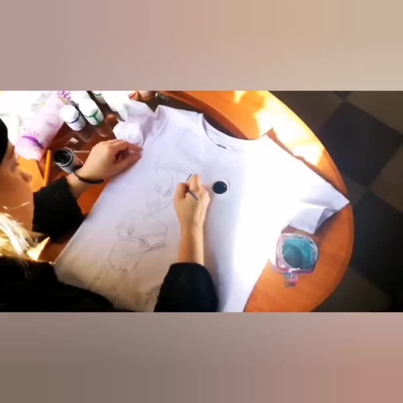 Процесс создания футболок для мульт-проекта Rozzo