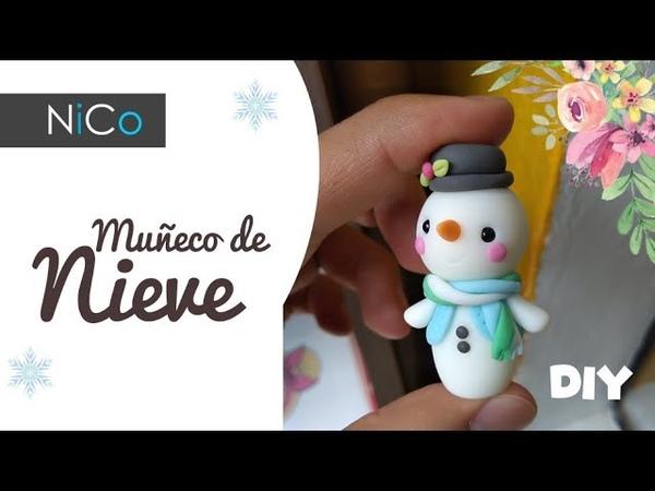 Adornos de NAVIDAD ° Porcelana fría | Muñeco de Nieve