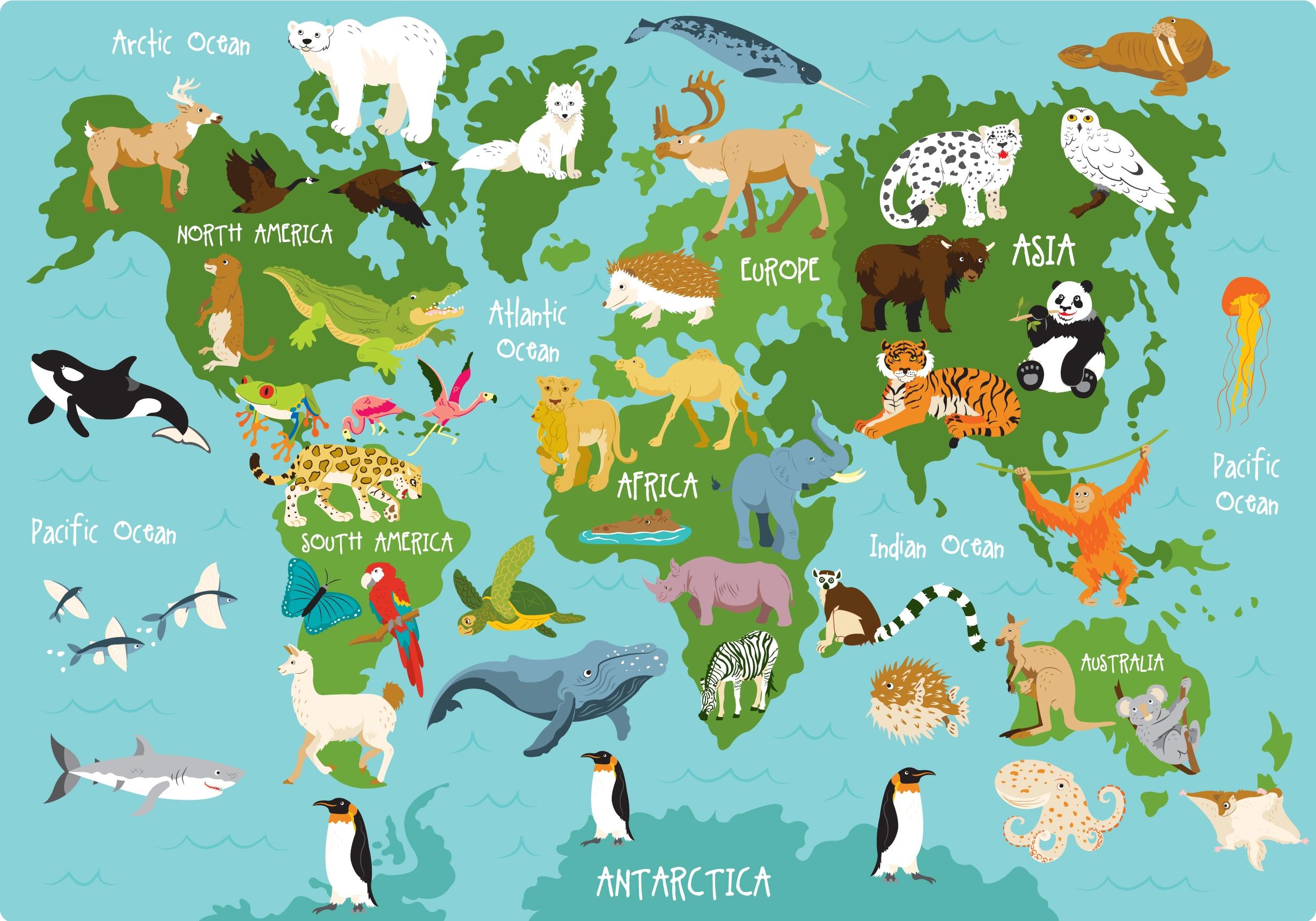 карта россии с картинками животных хоть открытая, фанаты