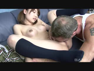 Japanese schoolgirl fucks with a foreigner
