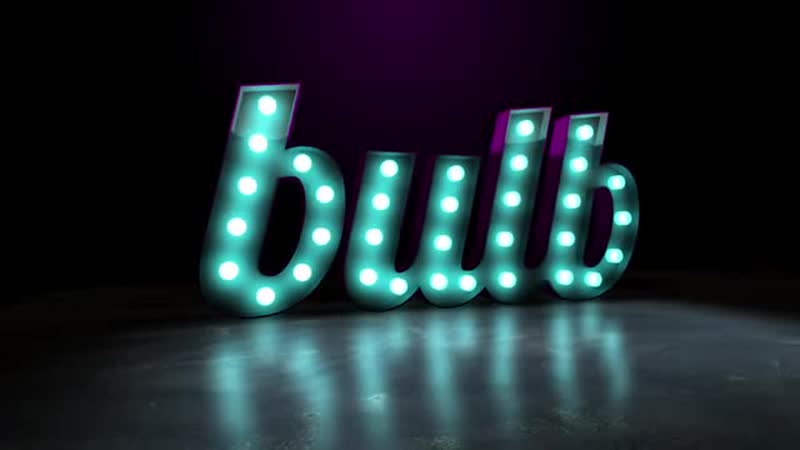 2) Логотип 3D с лампочками