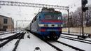 Электровоз ВЛ40у-1378-2 с пассажирским поездом по станции Жмеринка