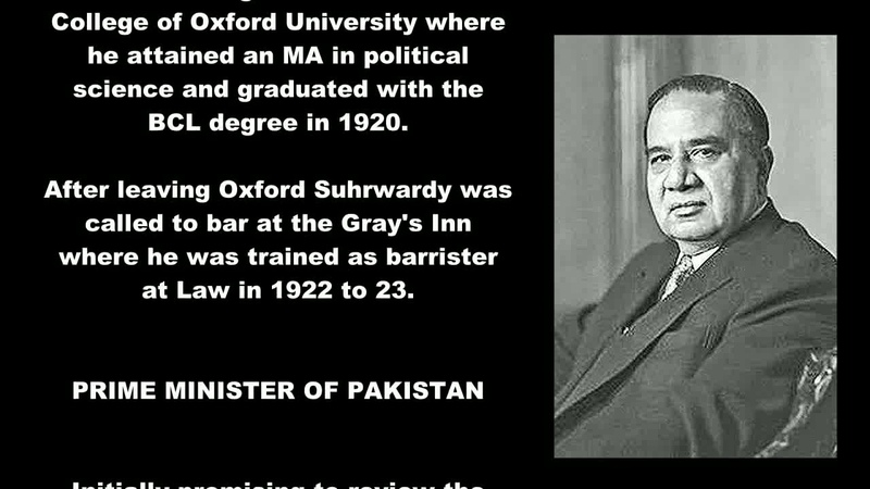 Huseyn Shaheed Suhrawardy Biography 5th Prime Minister Of Pakistan