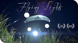Flying Lights ★ JB Chandelier paragliding at night