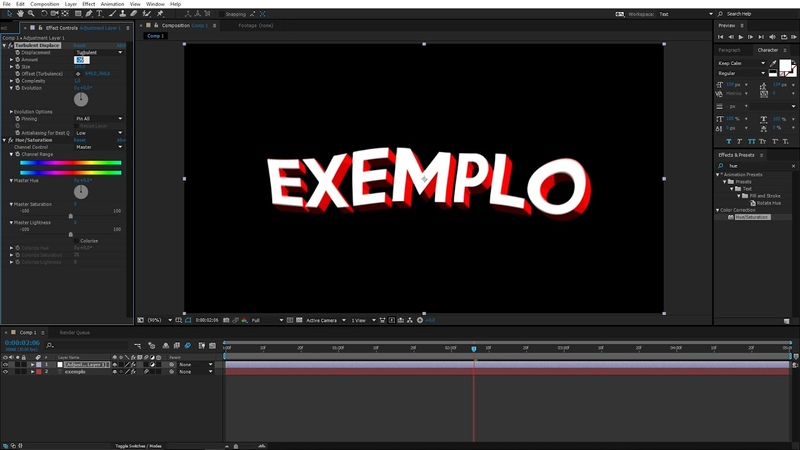 EFEITO PARA USAR EM TIPOGRAFIA - TUTORIAL AFTER EFFECTS