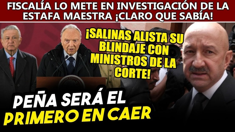 Van por Peña Fiscąl de Obrador lo pone como organizador del dęsfąlco Salinas busca protegerlo