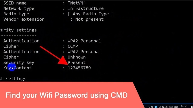 How to Find WIFI Password of all Network Using CMD