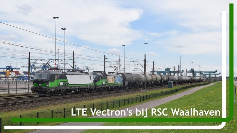 LTE 193 735 en 193 232 komen met keteltrein door de Waalhaven