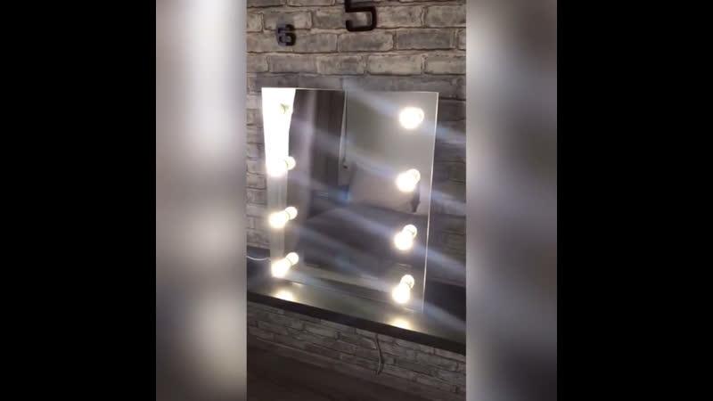 Зеркало размером 70х80см.