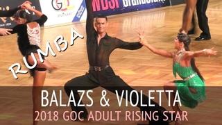 Balazs Hidi & Violetta Kis   Румба   2018 GOC Rising Star Latin - Четвертьфинал