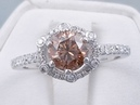 1.36 ctw Round Brilliant Cut Natural Chocolate Color Diamond Engagement Ring - BigDiamondsUSA