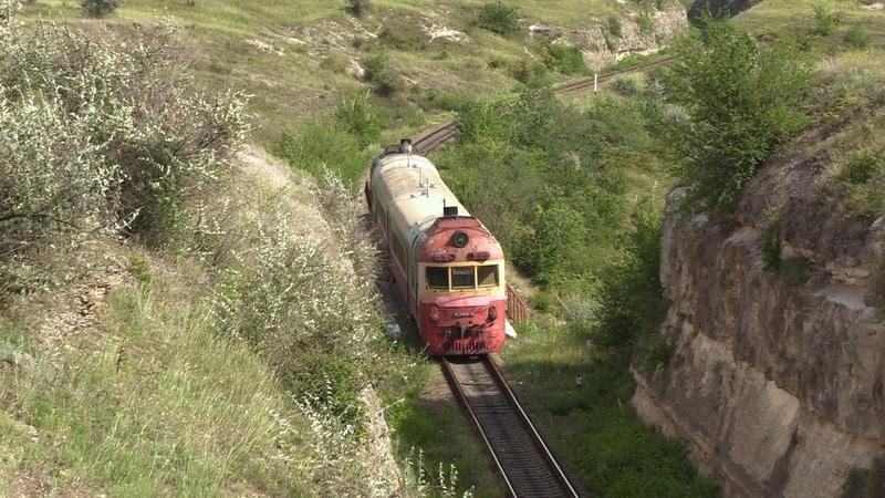 Дизель поезд Д1 780 на перегоне Гиндешть Флорешть D1 780 between Ghindesti and Floresti