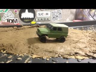 Обзор и тест в грязи модели УАЗ-469 на радиоуправлении в масштабе 1:43. Проект моделиста группы Дмитрия Иванова.