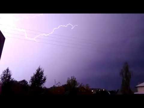 Мощная гроза в Гомеле вечер 12 июня 2016 Meteothica