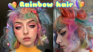 RAINBOW HAIR TRANSFORMATION - (with Ashleigh Hodges and Matrix in salon ) AD