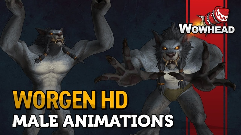 Worgen Male Animations - Patch 8.2.5