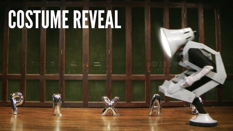 Pixar Lamp Halloween Costume Reveal