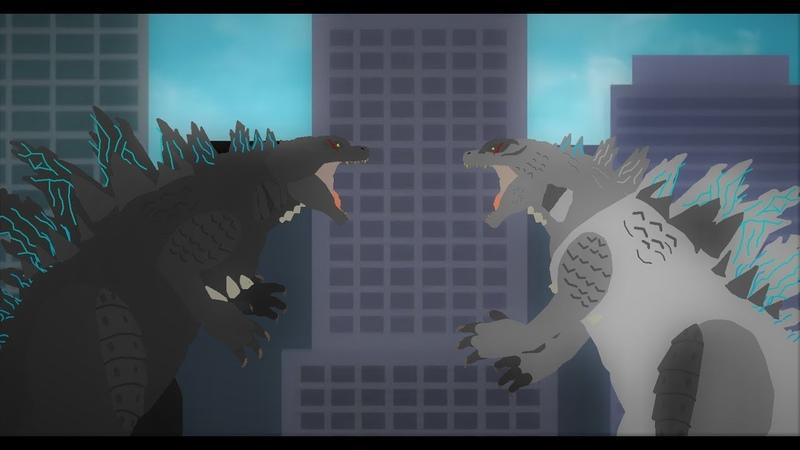 Годзилла 2014 против меха годзиллы 2014 - Godzilla 2014 vs mexa godzilla 2014