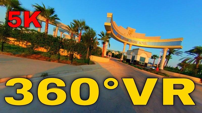 360° VR Thalassa Beach Resort To Limak Deluxe Hotel By Car North Cyprus 5K 3D Virtual Reality HD 4K
