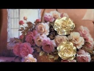 Пышная роза из ленты / Lush rose from ribbon